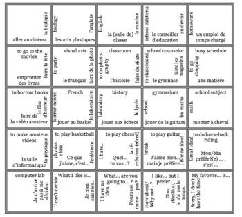 Bien Dit 3 CHAPTERS 1-5 Vocabulary jigsaw puzzle MEGA BUNDLE