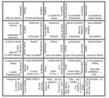 French Bien Dit! Level 3 Chapter 1 Vocabulary jigsaw puzzle BUNDLE