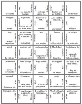 Bien Dit! Level 3 Chapter 3 Vocabulary jigsaw puzzle BUNDLE