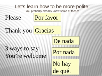 Buen Viaje 1 - 0 - C - Being Polite, Ordering Food, Cognates