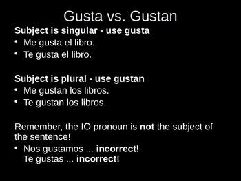 Buen Viaje 1 - 7.4 - Verbs like Gustar