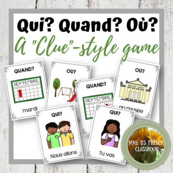 "Bien dit 1 Chapitre 5: Clue-style game with verb ""aller"""
