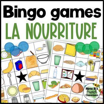 Bien dit 1 Chapitre 6: La nourriture Bingo games