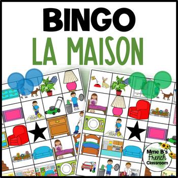 Bien dit 1 Chapitre 8: À la maison/house and chores Bingo