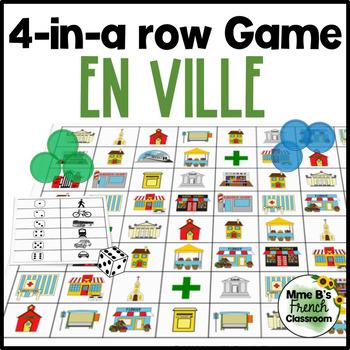Bien dit 1 Chapitre 9: Les endroits et les moyens de transport 4-In-A-Row Game