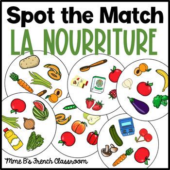 Bien dit 2 Chapitre 3: Spot the match game La nourriture