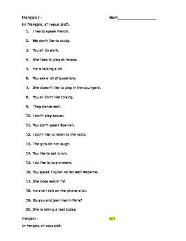 Bien dit CH 3 or Bon Voyage ch 3 - translation sentences