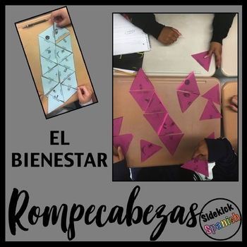 Bienestar Vocabulary Puzzle in Spanish