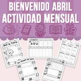 Bienvenido Abril - Actividad Mensual (Distance Learning)
