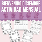 Bienvenido Diciembre - Actividad Mensual (Distance Learning)