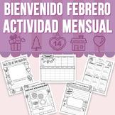 Bienvenido Febrero - Actividad Mensual (Distance Learning)