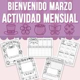 Bienvenido Marzo - Actividad Mensual (Distance Learning)