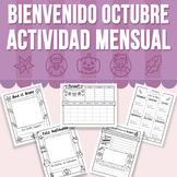 Bienvenido Octubre - Actividad Mensual (Distance Learning)