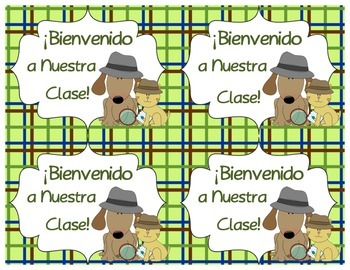 Welcome Back to School Postcards with a Detective Theme (Spanish Version)