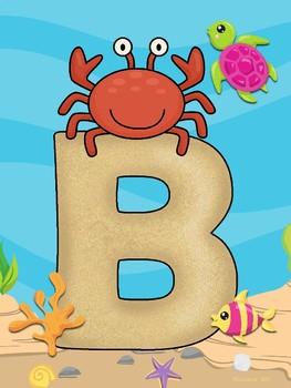 Bienvenidos - Bajo el Mar (Under the Sea Spanish WELCOME letters)