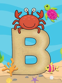 Bienvenidos - Bajo el Mar (Under the Sea Spanish WELCOME letters)