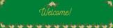 Bienvenidos Flower Theme Google Classroom Header for Spanish Class