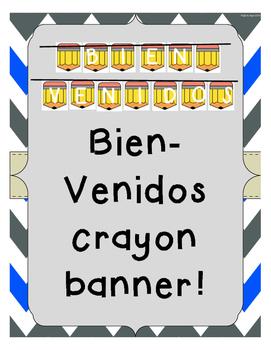 Bienvenidos Pencil Banner