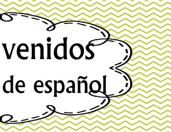 Bienvenidos Spanish owl themed welcome sign