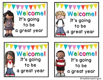 Bienvenidos/Welcome Back to School Gift Tags