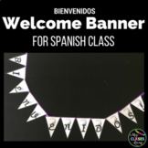 Classroom Decor: Bienvenidos Welcome Banner for Spanish Class