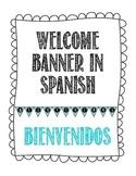 Bienvenidos Welcome Pennant Banner in Spanish - Chevron