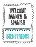 Bienvenidos Welcome Pennant Banner in Spanish - Polka Dot