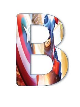 Bienvenidos tema Superhéroes / Welcome Banner in Spanish Superheroes Theme
