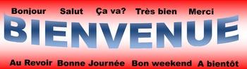 FRENCH Bienvenue greetings Banner