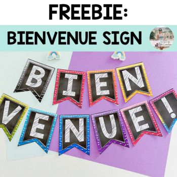 Bienvenue Bunting Freebie