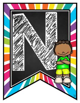 Bienvenue! Pennant Banner Kids