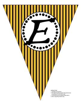 Bienvenue Pirate Banner Black and Yellow