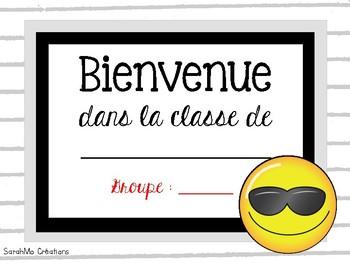 Bienvenue dans la classe de...