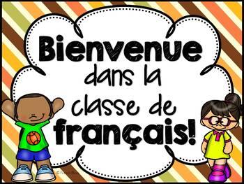 Bienvenue dans la classe de français - Affiche - GRATUIT