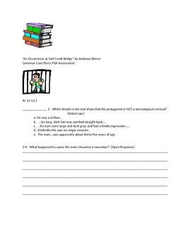 Bierce Owl Creek Bundle Common Core Reading Guide
