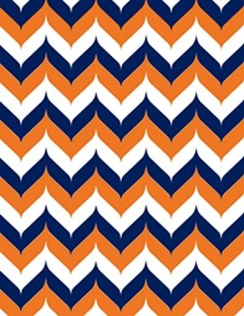 "Big 10 Conference Chevron Backgrounds 12-Pack (8.5"" x 11"")"