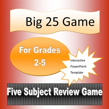 Big 25 Game Template for Grades 2-5