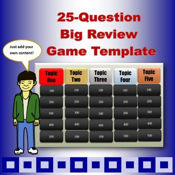 Big 25-Question Unit Review Game Template