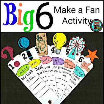 Big 6 Fan Reference Activity for Library Media, Classroom, Maker Space