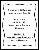 Big 6 Poets - S.M.I.L.E. Analysis and Creative Project