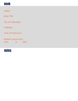 Big 6 Research Digital Notebook