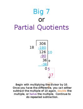 Big 7 & Partial Quotients Models-CC Division Strategies