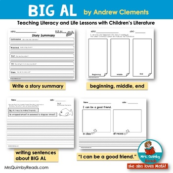 Big Al | Reader Response Pages | Reading-Writing | Children's Literature