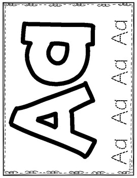 Big Alphabet Letters Tracing