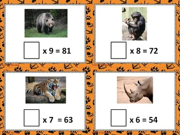 Big Animal Bundle You-Know Math Fact Games