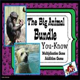 Big Animal Bundle You-Know Math Fact Games