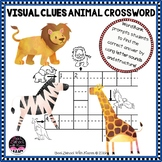 Big Animals Picture Crossword with Visual Clues