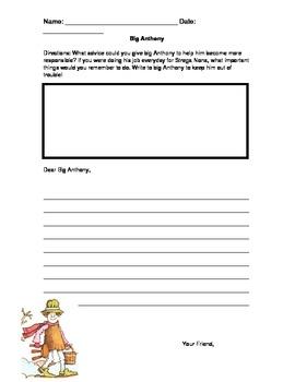 Big Anthony Letter