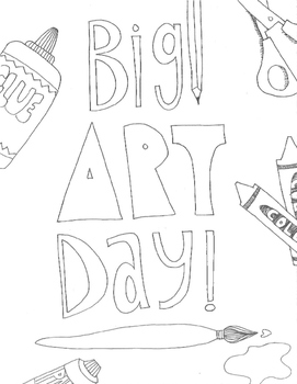 Big Art Day Color Sheets