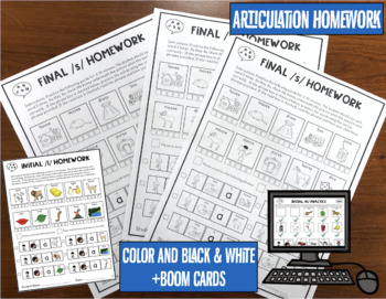 Big Articulation Homework Bundle! Early and Later Sounds! 72 Homework Pages!